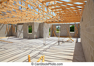 New Home Construction - New home Construction of a cement...