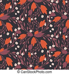 Organic floral pattern in rich warm colors