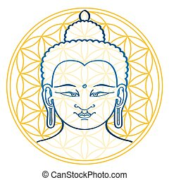 Buddha and the Flower of Life