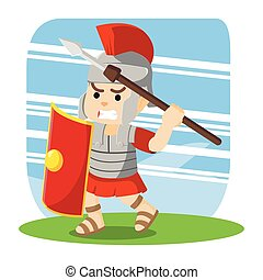 roman soldier taking spear for