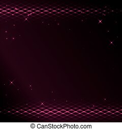 crimson background with bright tracery and stars - eps 10