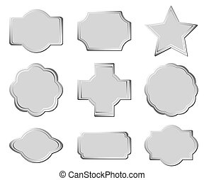 set of the gray frames - vector