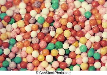 Candy bright background close up food photo