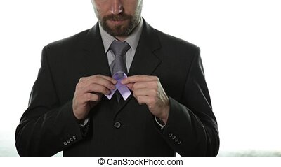 blue ribbon. prostate cancer awareness and violence against...