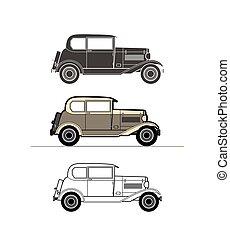 Retro car, vintage collection