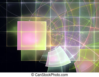 Abstract fractal futuristic pattern