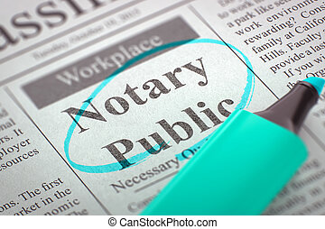 Notary Public Wanted 3D Render - Notary Public - Classified...