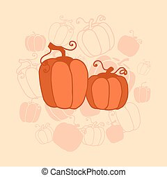 pumkin Thanksgiving card - vector illustration Thanksgiving...