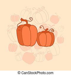pumkin Thanksgiving card - vector illustration Thanksgiving...