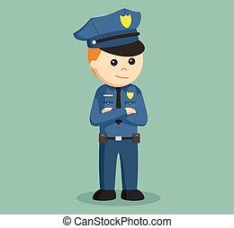 police officer illustration design