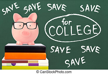 Save for college concept