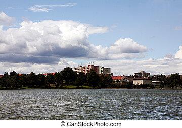 Pond in Jedovnice,  South Moravia, Czech Republic