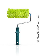 Paint roller on white background