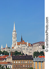 Matthias church and Fisherman towers Budapest Hungary