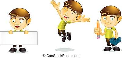 Student jump mascot