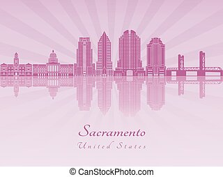 Sacramento V2 skyline in purple radiant orchid