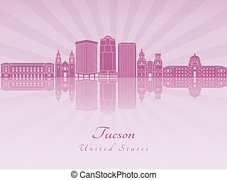 Tucson V2 skyline in purple radiant orchid - Tucson skyline...