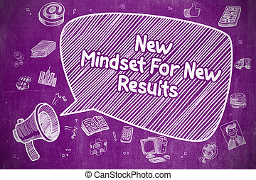 New Mindset For New Results - Business Concept - Business...