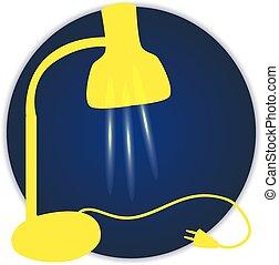 bright yellow lamp