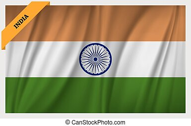 National flag of Republic of India