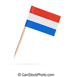 Miniature Flag Netherlands. Isolated flag from Holland on...