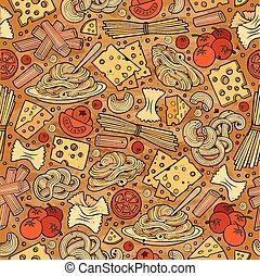 cartone animato, CÙte, mano, disegnato, italiano, cibo,...