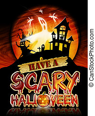 Halloween Scary Ghosts - Have a Scary Halloween Chrome...
