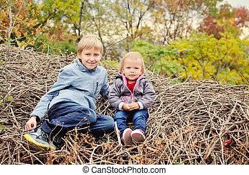 children in fall