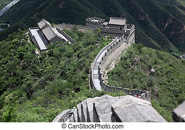 At the Great Wall of China, Bejing - Four million people...