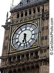 Clock of Big Ben, London gothic architecture, UK