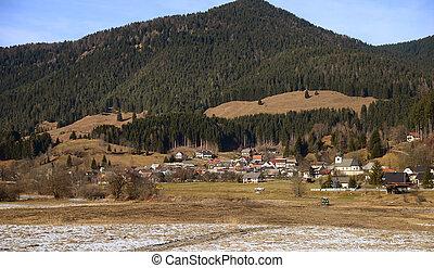 Ratece village, Planica, Slovenia - Ratece village near...