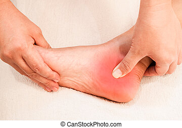 reflexology foot pain massage