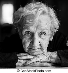 Elderly woman  portrait