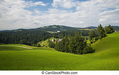 Rovte village, Slovenia - Rovte village near Logatec city in...