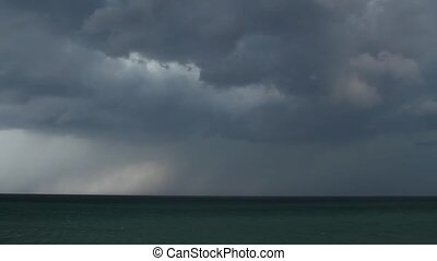 Storm clouds over the sea - Stormy sea, abstract dark...
