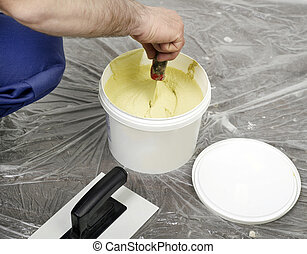Constructor mixing the plaster
