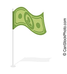 Dollar flag Financial paced checkbox Sign for capitalists...