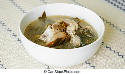 Pork Stew with Cha Muang Leaves