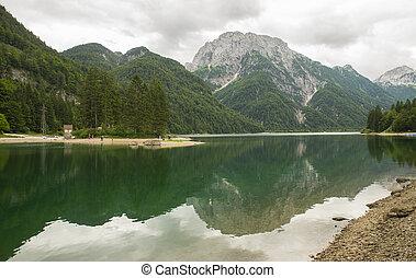 Lago del Predil, Predil lake, Italy - Lago del Predil in...