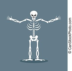 Happyl skeleton stretched out his arms in an embrace....