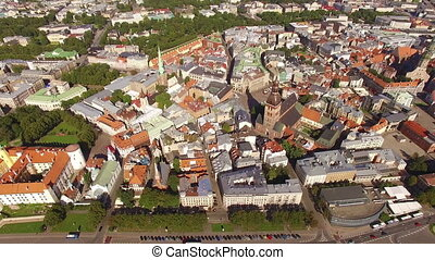 HD - Old european city. Aerial view