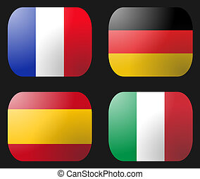 France Germany Italy Spain Flag