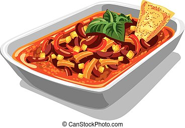 chilly spicy con carne - illustration of chilly spicy con...