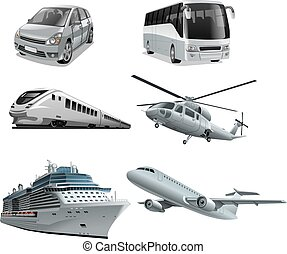 different mode of transport - illustration of different mode...