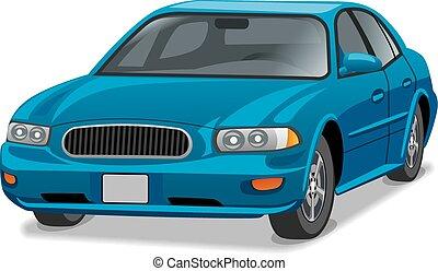 blue car sedan