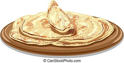 traditional pita bread - illustration of traditional freshly...