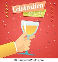 Toast Pledge Celebration Success Prosperity Symbol Hand Hold...