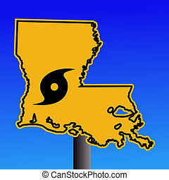 Louisiana, aviso, sinal, furacão