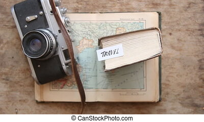 Travel - Hand lettering Vintage composition - Travel - Hand...