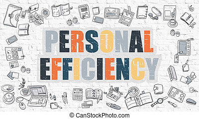Multicolor Personal Efficiency on White Brickwall - Personal...